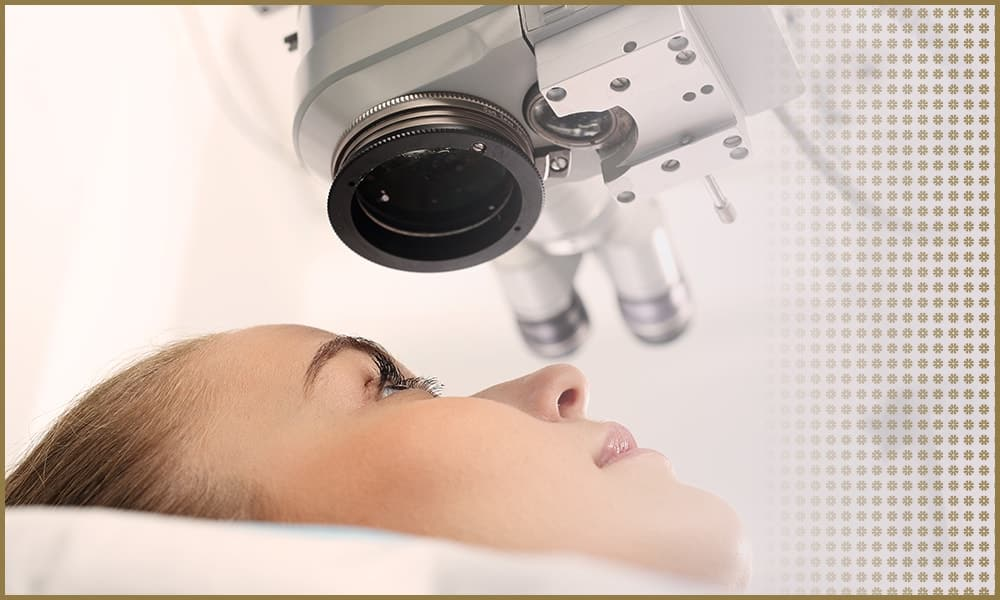 Woman Undergoing Eye Surgery | Lasik & iLasik | Eye Surgeons & Ophthalmologists | Vision Surgery